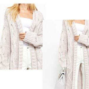 Free People Keep In Touch Cardigan Painted White